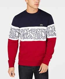 Lacoste x Keith Haring Men's Graphic Colorblock French Terry Sweater