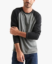 Lucky Brand Men's Microterry Burnout Crew