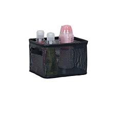 Eva Mesh Small Storage Basket Tote, Black