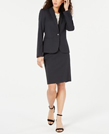 Tommy Hilfiger Dot-Print Jacket & Pencil Skirt