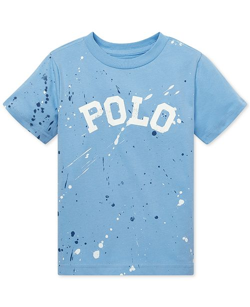 0b08d9fd1 ... Polo Ralph Lauren Toddler Boys Paint-Splatter Cotton T-Shirt ...