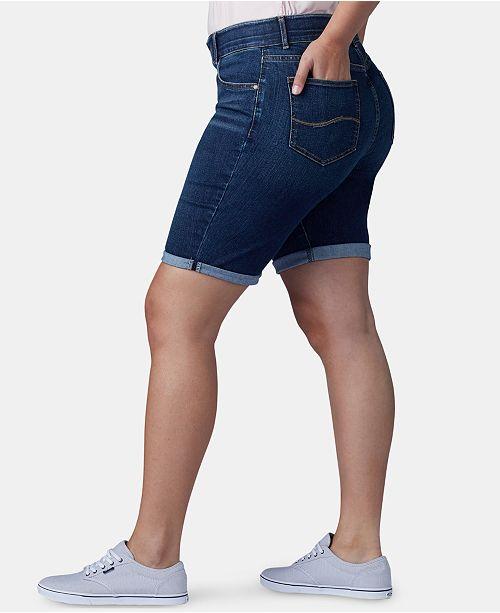 de89fd61c86 Lee Platinum Plus Size Flex To Go Bermuda Shorts   Reviews - Shorts ...