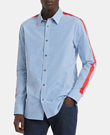 Calvin Klein Men's Slim-Fit Gingham Check Taped Shirt