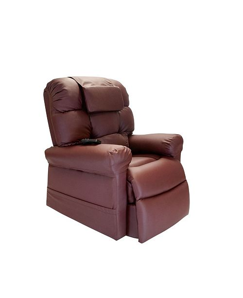 WiseLift Sleeper Lift Chair, Enduralux Leather