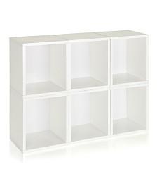 Way Basics Eco Stackable Modular Storage Cubes Plus