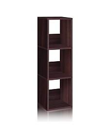 Way Basics Eco 3 Shelf Trio Narrow Bookcase and Storage Shelf