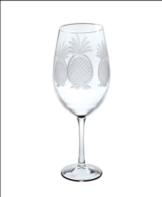 Pineapple All Purpose Wine Glass 18Oz - Set Of 4 Glasses