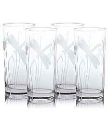 Dragonfly Cooler Highball 15Oz - Set Of 4 Glasses