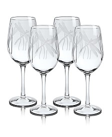 Rolf Glass Dragonfly White Wine Glass 12Oz - Set Of 4 Glasses