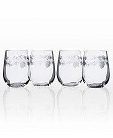 Icy Pine Stemless 17Oz - Set Of 4 Glasses