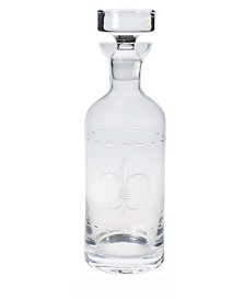 Rolf Glass Fleur De Lis 32Oz Whiskey Decanter
