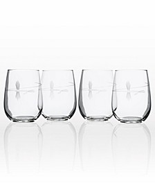 Fly Fishing set of 4 Glasses Collection