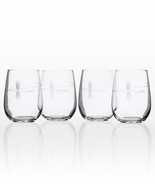 Rolf Glass Fly Fishing set of 4 Glasses Collection