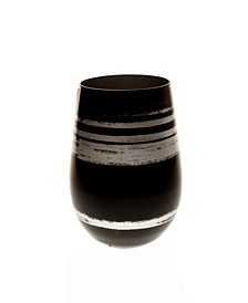 Cosmo Black And Silver 16.5Oz Stemless Wine Tumbler - Set Of 4