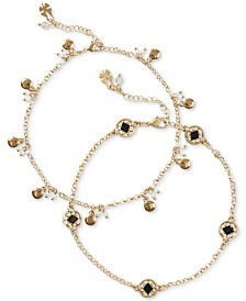 Lucky Brand Gold-Tone 2-Pc. Anklet, Created for Macy's