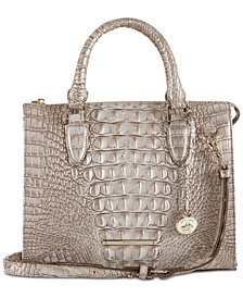 Brahmin Anywhere Convertible Melbourne Embossed Leather Satchel