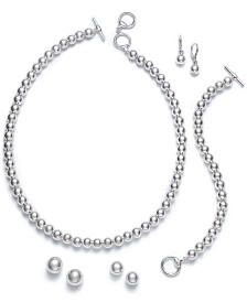 Lauren Ralph Lauren Silver-Tone Beaded Jewelry Separates