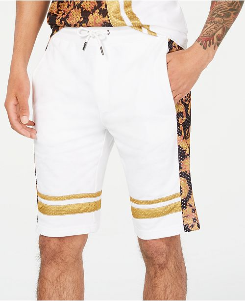 INC International Concepts I.N.C. Men's Baroque Mesh Overlay Shorts, Created for Macy's