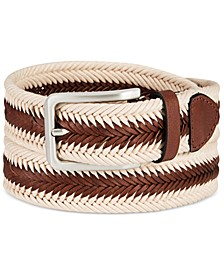 Men's Braided Casual Belt, Created for Macy's