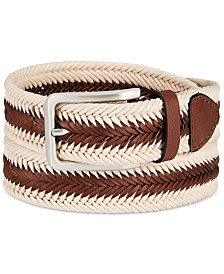 Tasso Elba Men's Braided Casual Belt, Created for Macy's