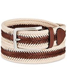 Tasso Elba Men's Braided Casual Belt, Created for Macy's