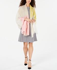 Calvin Klein Colorblocked Wrap Scarf