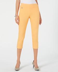 Alfani Petite Tummy-Control Pull-On Capri Pants, Created for Macy's