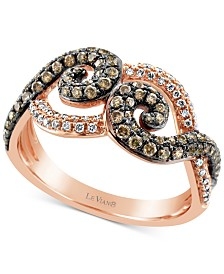Le Vian Chocolatier® Diamond Ring (5/8 ct. t.w.) in 14k Rose Gold