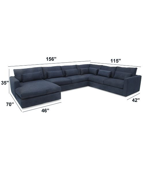 Pleasant Canillo 4 Pc Fabric Chaise Sectional Sofa Created For Macys Ocoug Best Dining Table And Chair Ideas Images Ocougorg