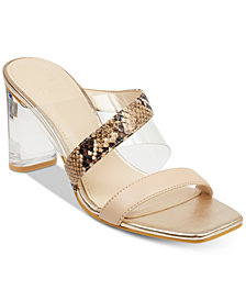 GUESS Women's Kicie Lucite Dress Sandals