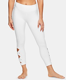 Gaiam Om Flow Cutout Capri Leggings