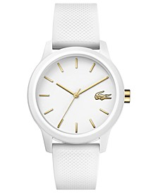 Women's 12.12 White Rubber Strap Watch 36mm