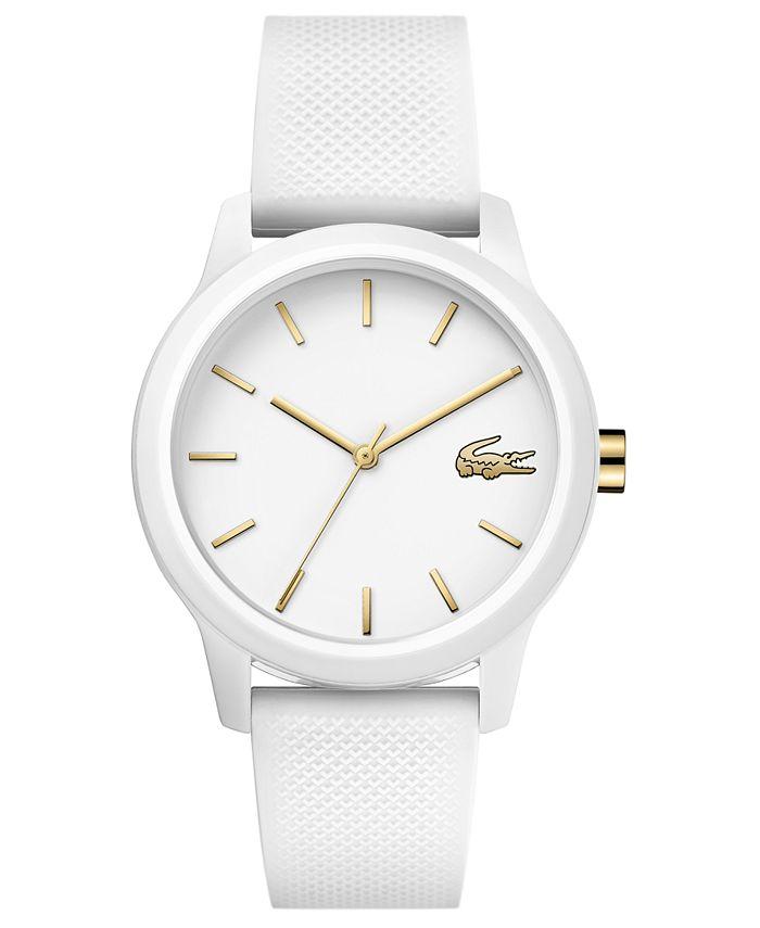 Lacoste - Women's 12.12 White Rubber Strap Watch 36mm