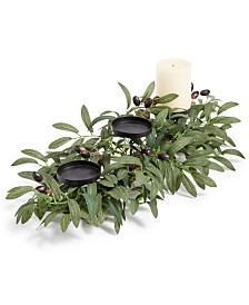 Martha Stewart Collection La Dolce Vita Olive Leaf Artificial Centerpiece, Created for Macy's
