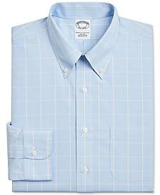 Men's Regent Slim-Fit Non-Iron Glen Plaid Supima Cotton Dress Shirt