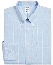 Brooks Brothers Men's Regent Slim-Fit Non-Iron Glen Plaid Supima Cotton Dress Shirt