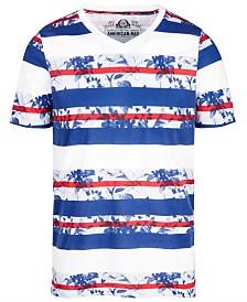 American Rag Men's Print Stripe & Floral T-Shirt