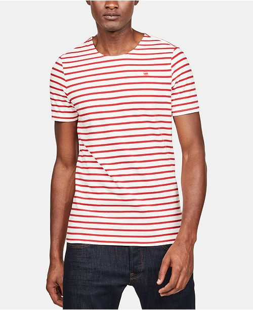 G Star Raw Men's Striped T Shirt, Created for Macy's