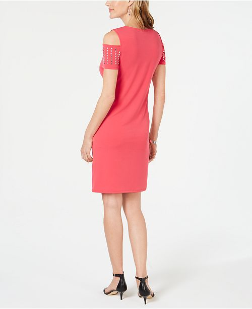 a Petite fourreau Robes epaulettes cloutees Collection Pink Jmcree Petites pourAvis Twist et Robe 3jL54RA