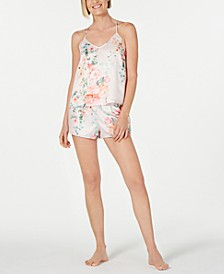 Tish Floral-Print Charm Camisole and Tap Pants Pajama Set