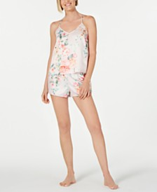 Flora by Flora Nikrooz Tish Floral-Print Charm Camisole and Tap Pants Pajama Set