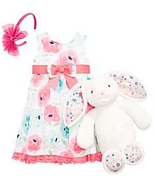 Blueberi Boulevard Baby Girls Floral-Print Dress, First Impressions Baby Boys & Girls Plush Bunny & On the Verge Little & Big Girls Bow Headband