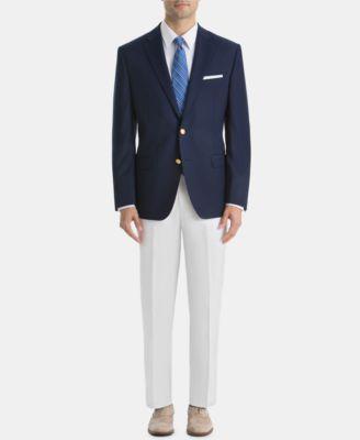 Men's UltraFlex Classic-Fit White Linen Pants