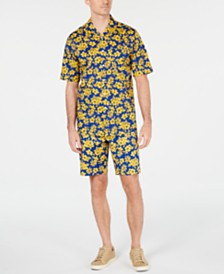 Club Room Men's Memei Floral Shirt & Shorts Separates, Created for Macy's