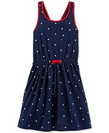 Carter's Little & Big Girls Red, White & Blue Tank Dress
