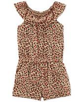 ea7eac987 Carter's Little & Big Girls Cheetah-Print Romper