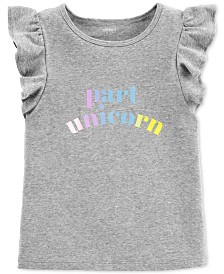 Carter's Little & Big Girls Part Unicorn Graphic Flutter Top