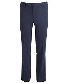 DKNY Big Boys Stretch Navy Dress Pants