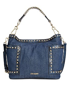 Steve Madden Denim Studded Bucket Bag