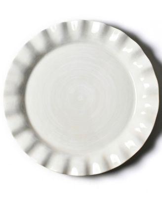 Signature White Ruffle Round Platter